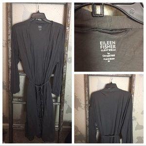 Eileen Fisher by Garnet Hill bathrobe M EUC